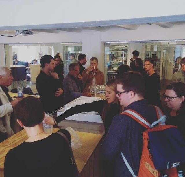 Visit at whitearkitekter office in Copenhagen Morten briefs about ongoinghellip