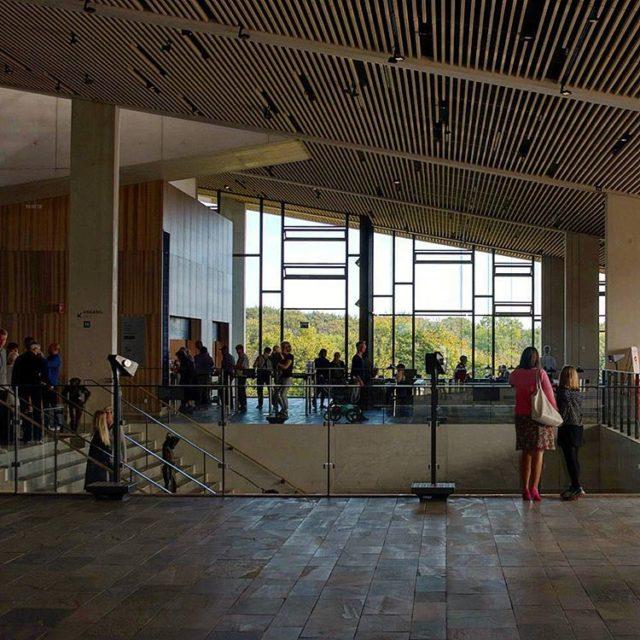 Main foyer space of moesgaardmuseum  momu by henninglarsen hellip