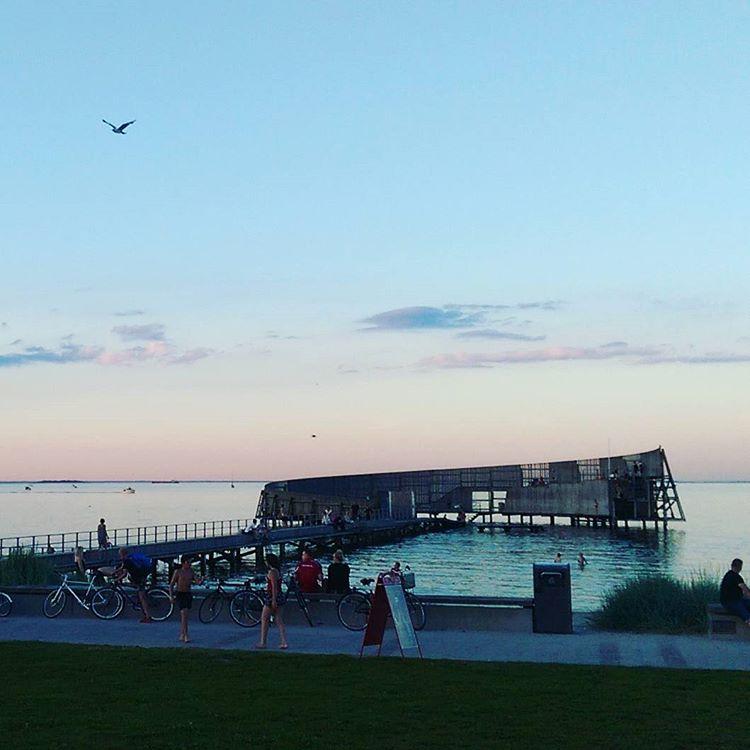 Summer evening inCopenhagen at kastrupsbad by whitearchitecture