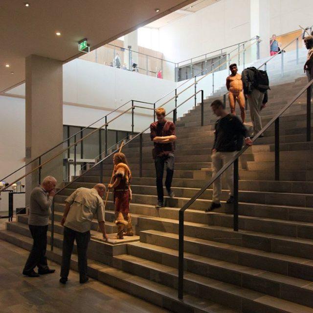 Main stair in momu  moesgaardmuseum by henninglarsenarchitects whitestudieresor2016 whitestudieresorhellip