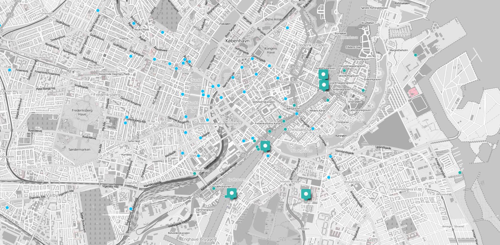 Copenhagen architecture map