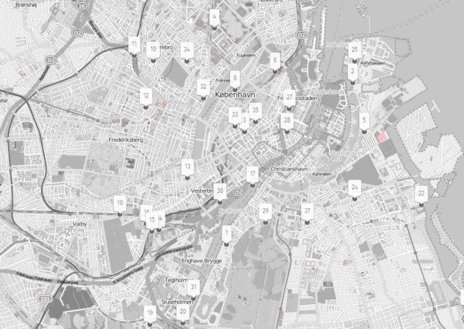 Secret spots in Copenhagen map