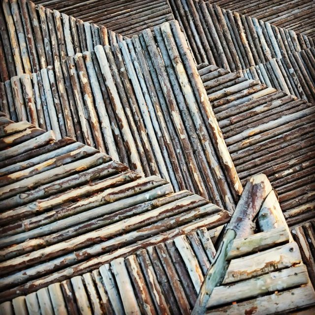 wood wooden stepped platform structure at the beach near arkenmuseumofmodernart