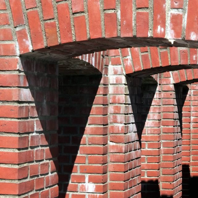Danish painterartist Per Kirkeby designed a number of brick sculptureshellip