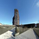 Mærsk tårnet Maersk Tower C F Møller Panum bike flyover facade