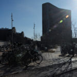 Mærsk tårnet Maersk Tower C F Møller Panum outdoor bike parking