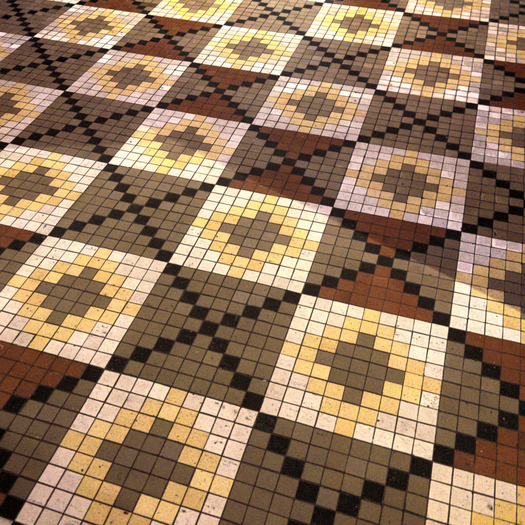 Mosaic floors at the Thorvaldsen Museum by Bindesbøll