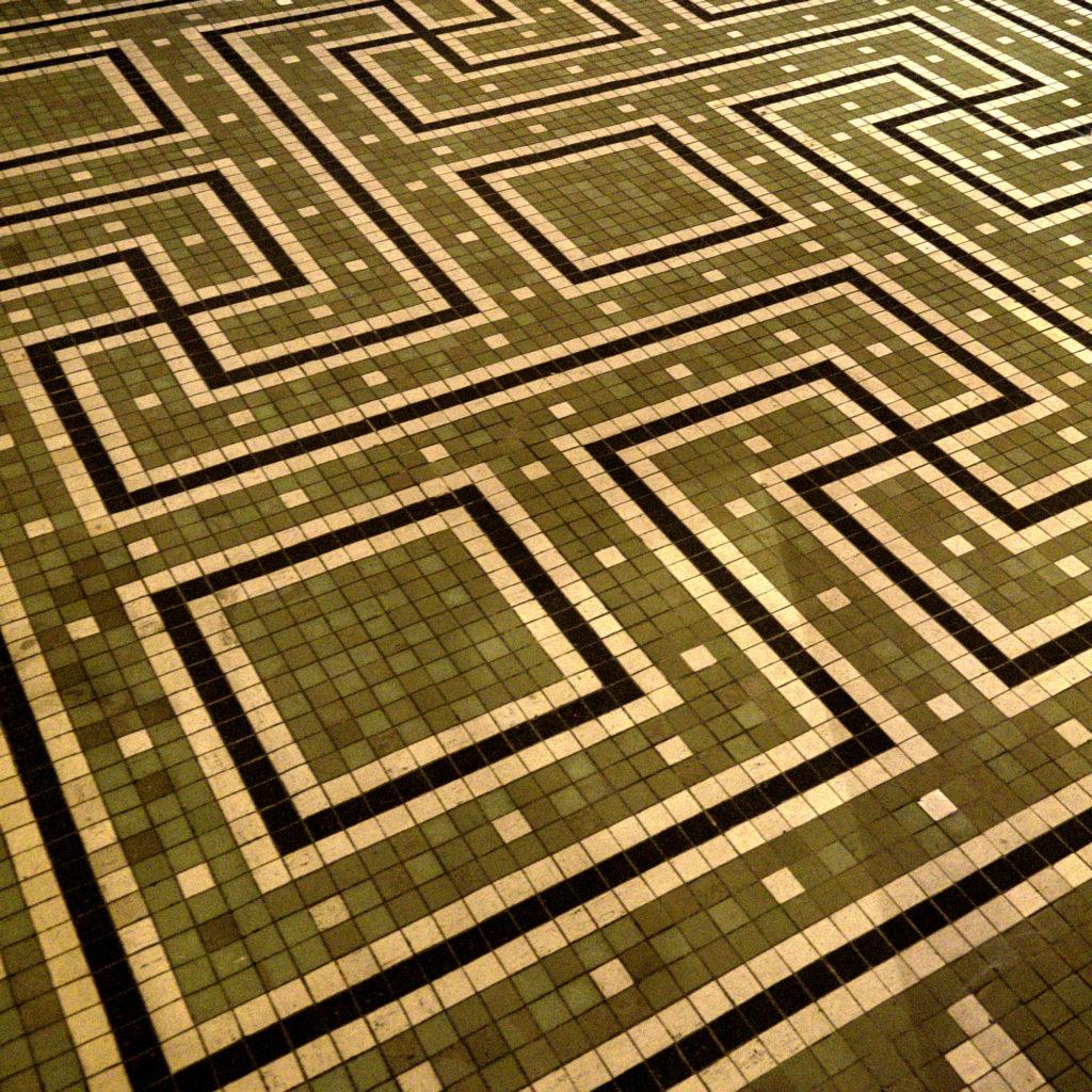 Mosaic floors at the Thorvaldsen Museum by Bindesbøll