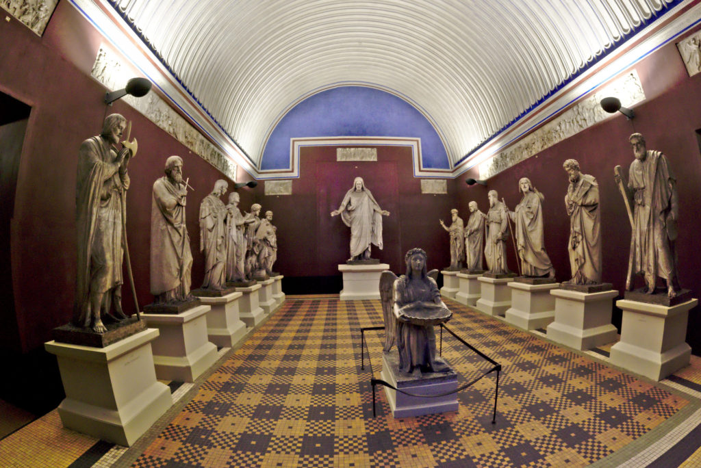 Sculptures of Christ and deisciples at the Thorvaldsen museum by Bindesbøll