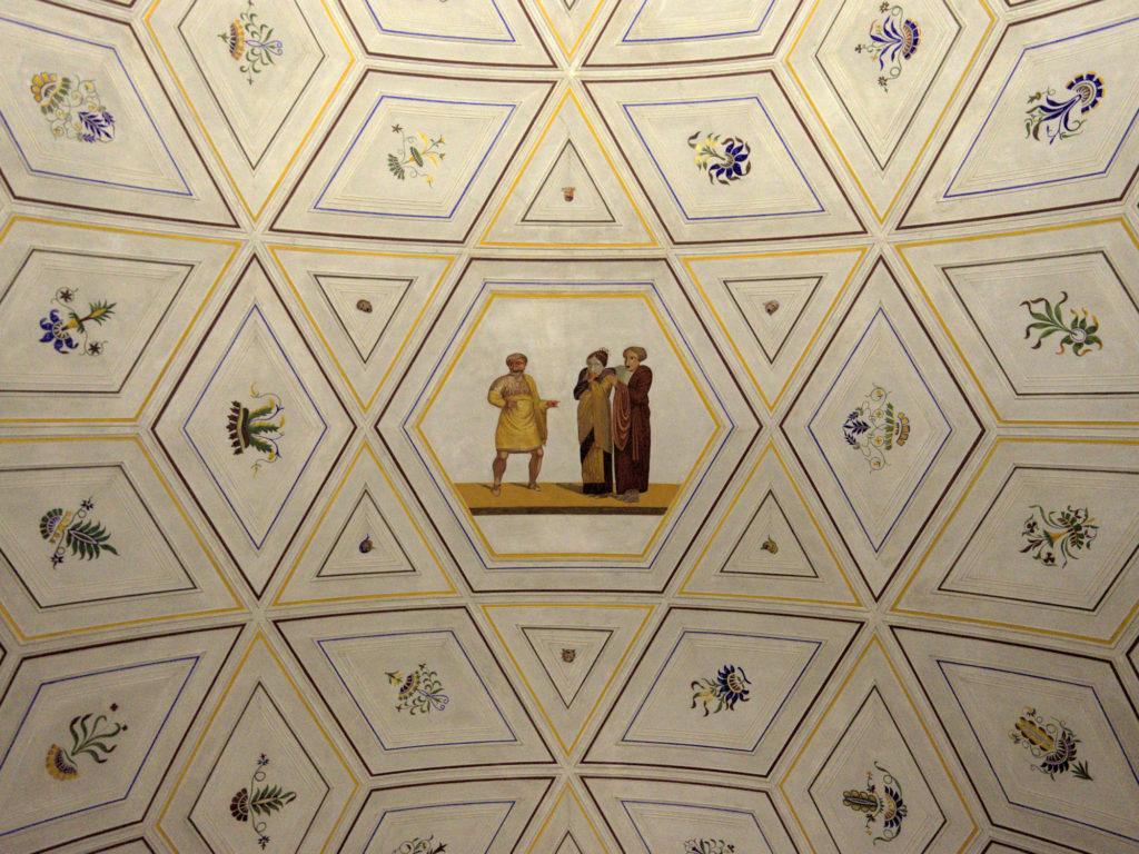 Painted barrel vault ceilings at the Thorvaldsen Museum by Bindesbøll