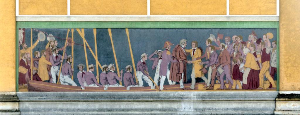 Frieze fresco at Thorvaldsen Museum
