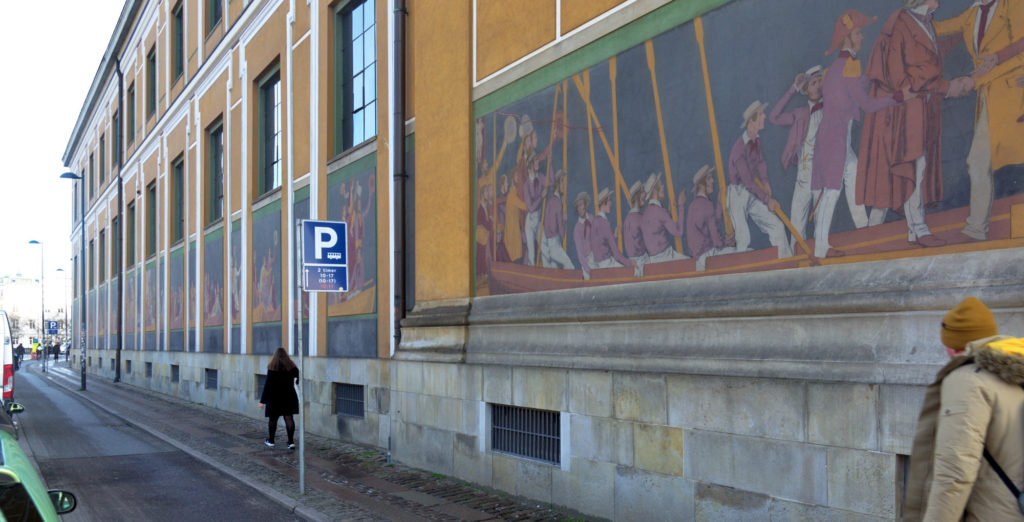 Frieze fresco at Thorvaldsen Museum