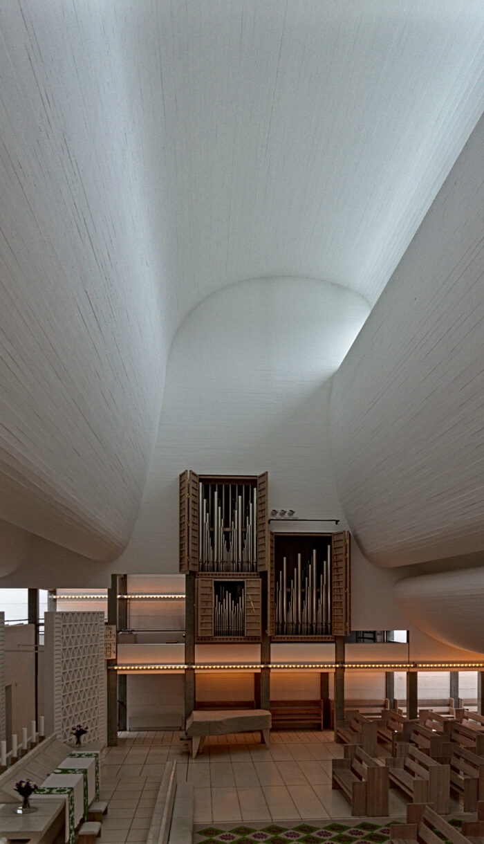 Bagsværd Church by Jørn Utzon Interior