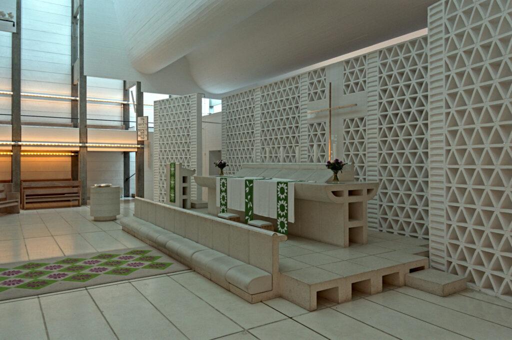 Bagsværd Church by Jørn Utzon Interior altar