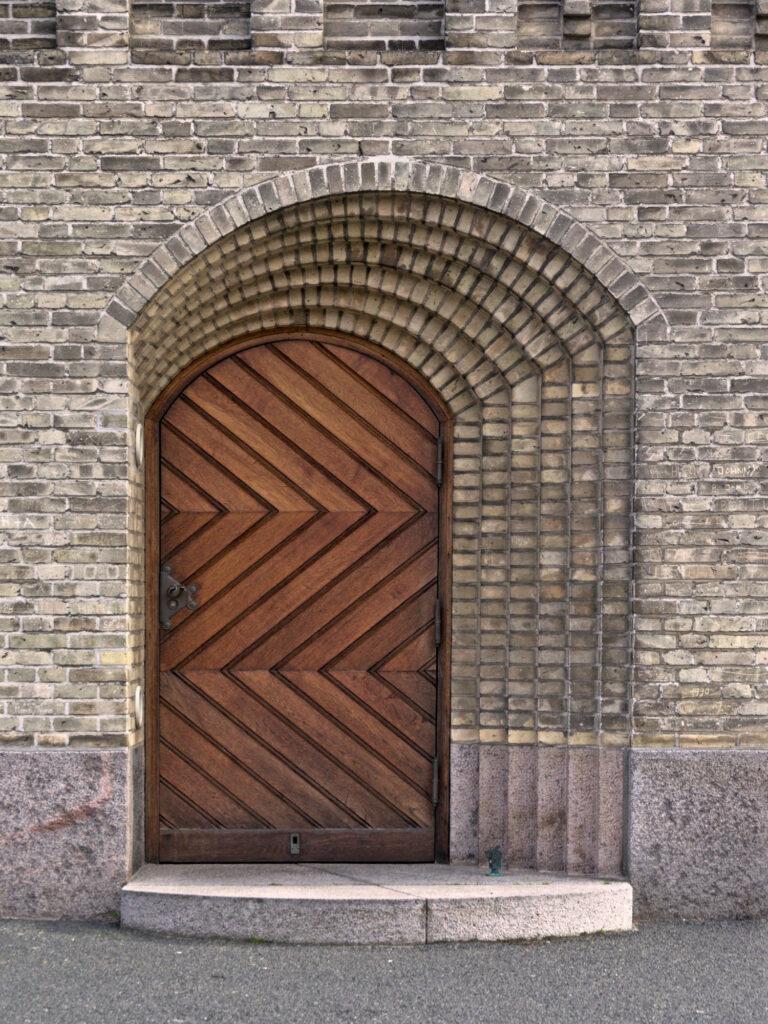 Grundtvig's Church by Jensen-Klint Side door