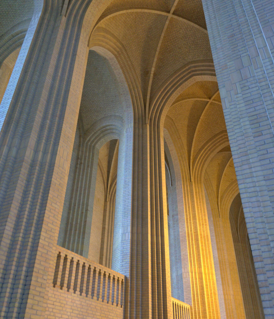 Grundtvig's Church by Jensen-Klint Bricks