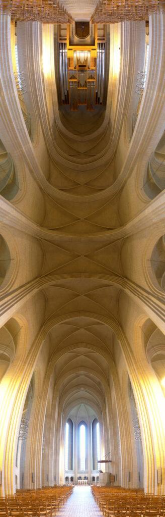 Grundtvig's Church by Jensen-Klint Vaulted ceilings