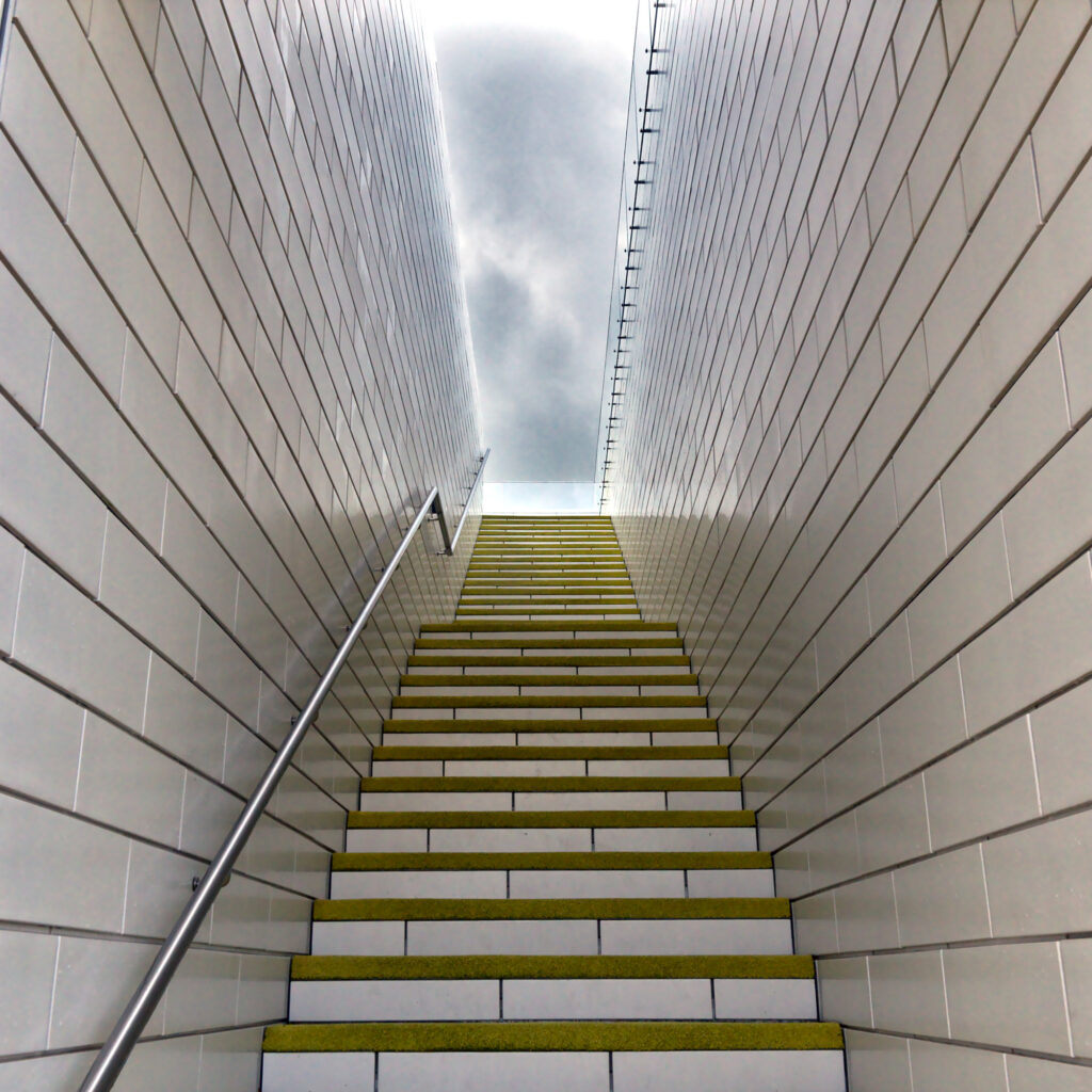 LEGO House by BIG outdoor connecting staircase