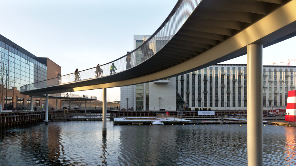 Bicycle Snake Bridge by Dissing+Weitling